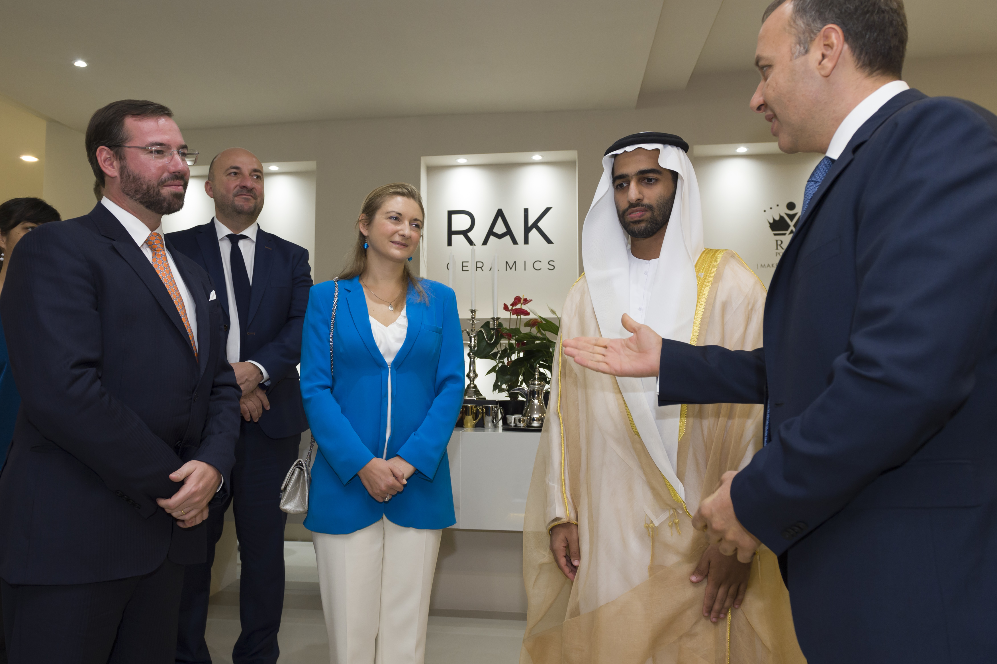 RAK Ceramics Welcomes HRH Prince Guillaume of Luxembourg