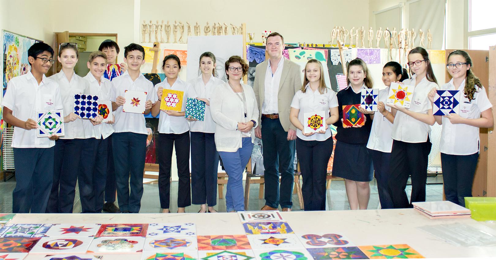 RAK Ceramics Supports Islamic Tile Art through Young Future Designers at the Dubai British School